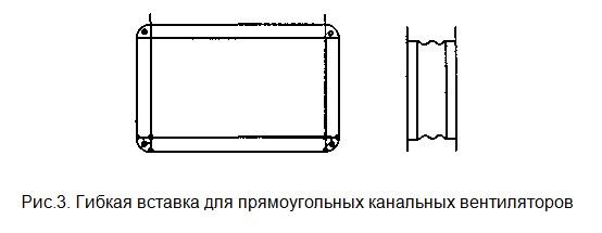 гибкая вставка для прямоугольныхканальных вентиляторов