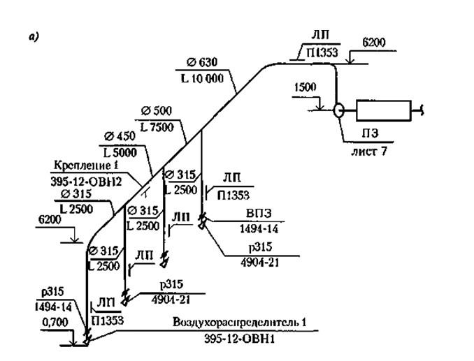 Аксонометрическаямонтажная схема
