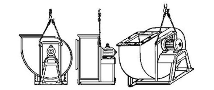 Строповка вентиляторов Ц4-70 № 6 - 8 исполнения № 1