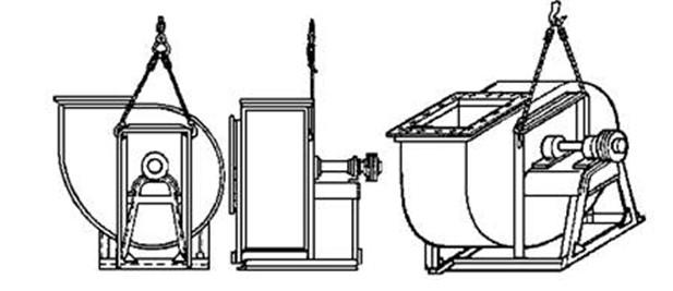 Строповка вентиляторов Ц4-70 № 6 - 8 исполнения № 6