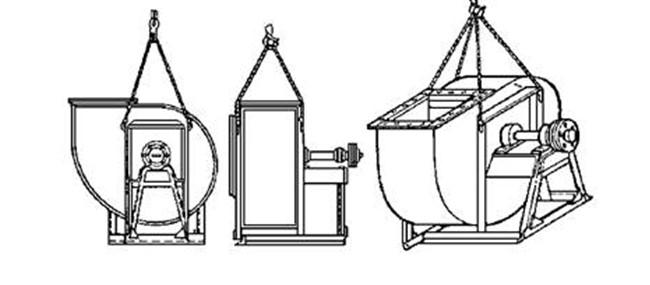 Строповка вентиляторов Ц4-70 № 10, 12,5